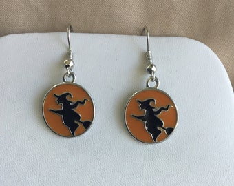 Witch earrings Halloween Earrings witch jewelry Halloween jewelry costume jewelry Halloween accessories & Witch jewelry | Etsy