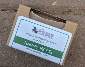 Happy Hippie, All Natural Patchouli Soap with Dead Sea Mud and Clay's, Palm Free