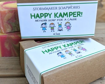 Happy Kamper, Handmade Soap, Palm Free, Vegan