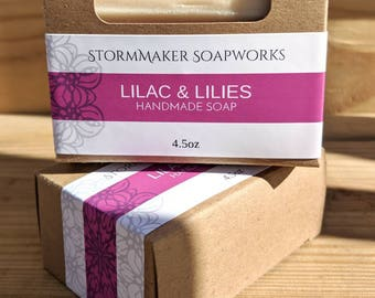 Lilac & Lilies, Handmade Soap, Palm Free