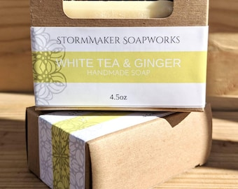 White Tea & Ginger, Handmade Soap, Palm Free