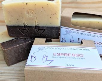 Espresso, Handmade Soap, Palm Free, All Natural