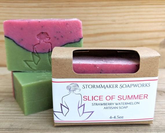 Slice of Summer, Strawberry Watermelon, Handmade Soap, Palm Free