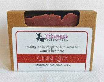Cinn City, Natural Cinnamon Bath Bar, Soothing, Palm Free, Vegan