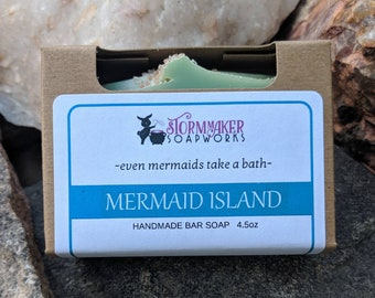 Mermaid Island, Handmade Tropical Soap, Palm Free
