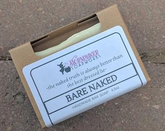 Bare Naked, All Natural Olive Oil Soap for Sensitive Skin, Vegan