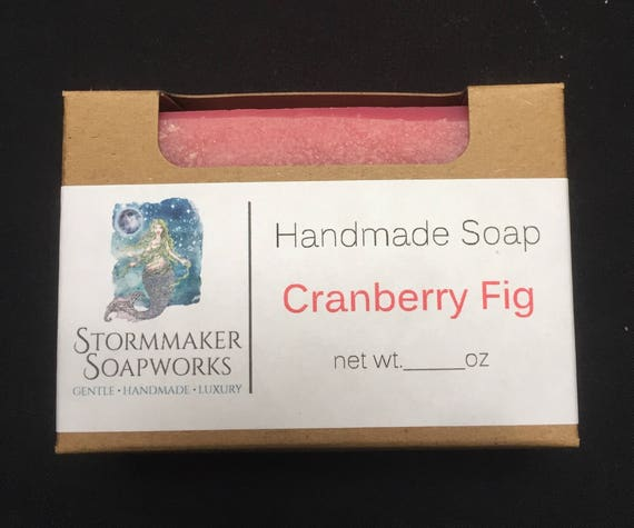 Cranberry Fig, Handmade Soap, Palm Free, Holiday Soaps