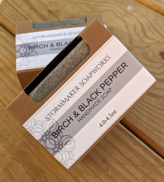 Birch & Black Pepper, Handmade Soap, Palm Free