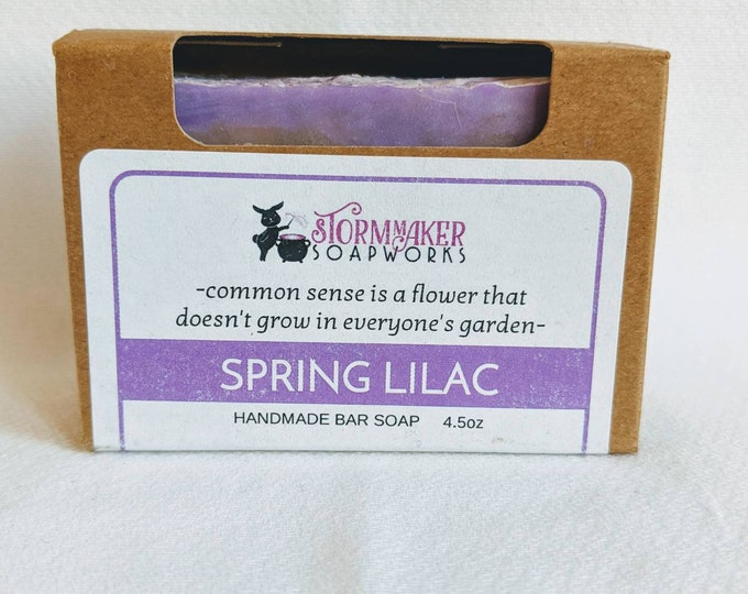Featured listing image: Spring Lilac, Handmade Soap, Palm Free, Vegan