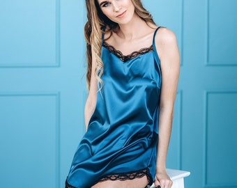 High quality silk sleepwear for women   Nightdresses and nightgowns for  women   Best satin lingerie gift for women as a Christmas gift 778e8a930