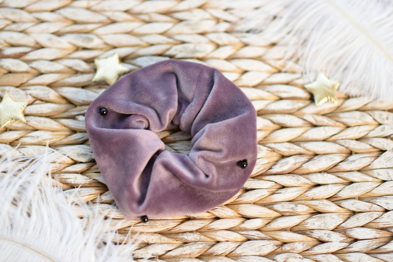 Velvet scrunchie Velour hair elastic Velvet hair tie Bridal gift Ponytail holder Hair accessories