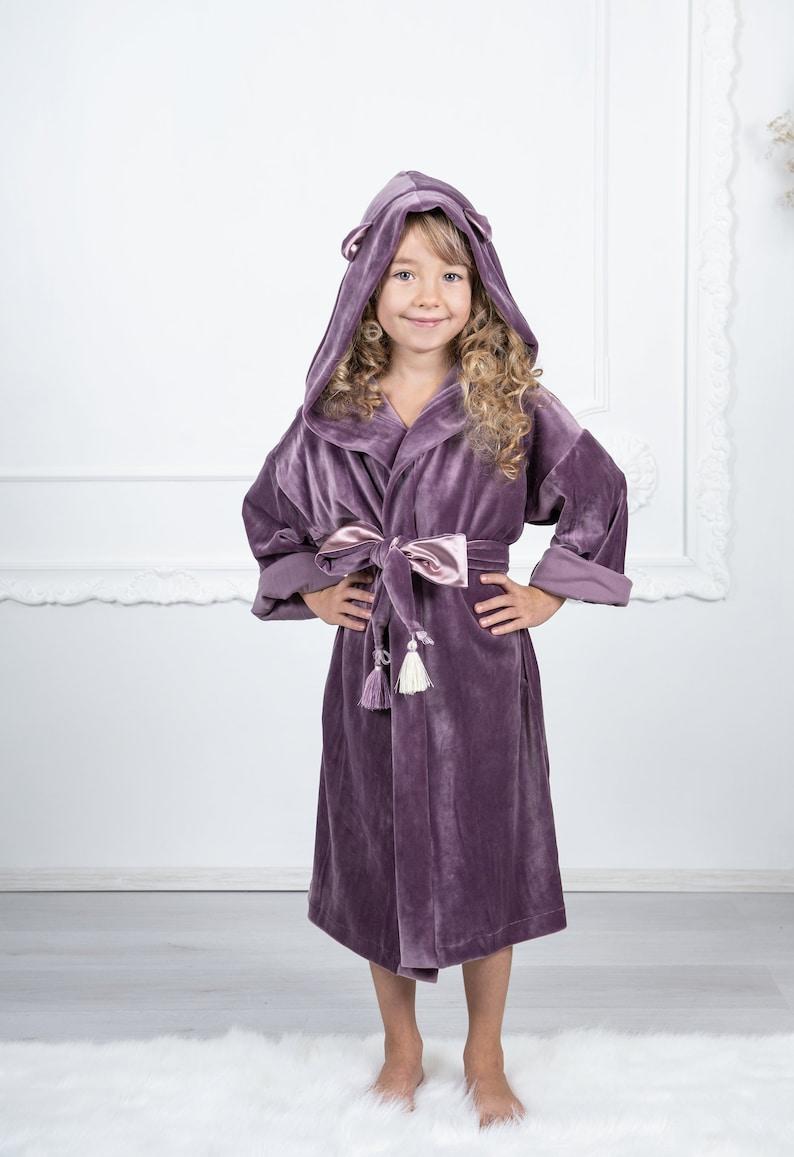 22430e638c Kids robes velour hooded robes kids hooded robe girls