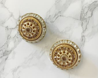 domed statement earrings