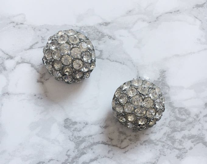 domed rhinestone earrings
