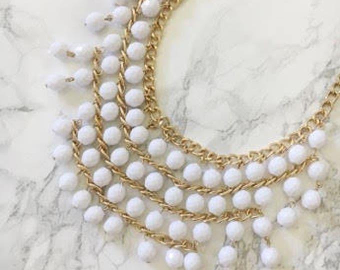 drop-bead chandelier necklace