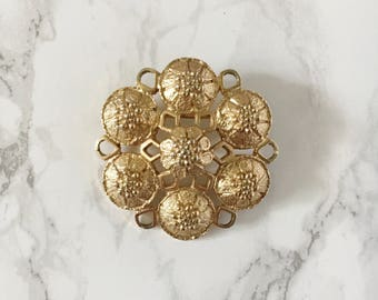 gold bouquet brooch