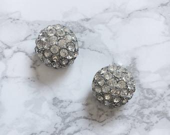 domed rhinestone earrings