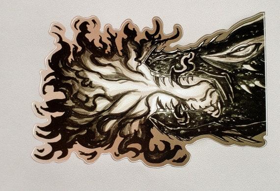 Un canto di ghiaccio e fuoco ~ drago Balerion ~ adesivo vinile opaco