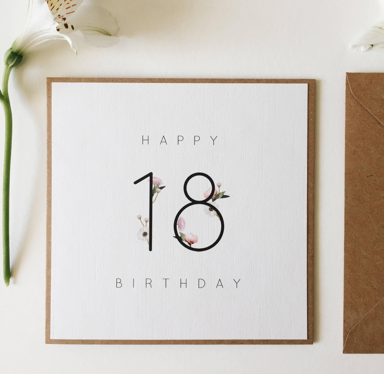 18th Birthday Card Birthday Milestone Card Handmade Happy
