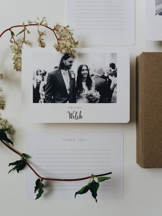 50 Wedding Thank You Cards Photograph Thank You Cards Etsy