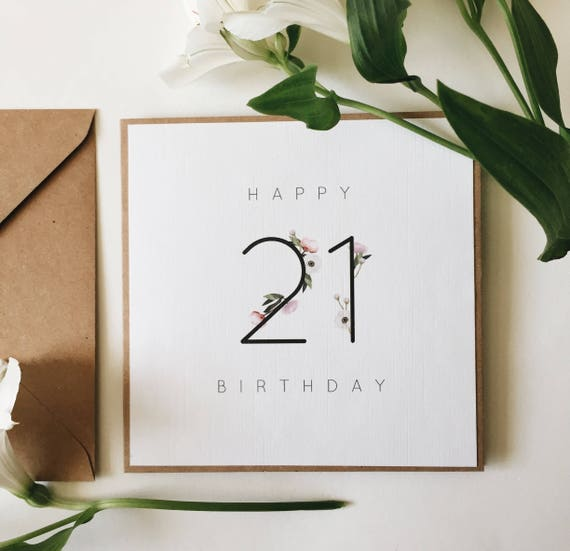 21st Birthday Card Handmade Milestone Happy