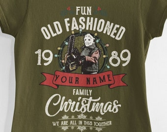 CUSTOM Griswold Fun Old Fashioned Family Christmas Tee Shirt Retro Vintage National Lampoon's Christmas Vacation 80s Gift Funny Personalized
