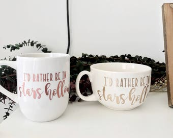 Gilmore Girls Mug - I'd Rather In Stars Hollow