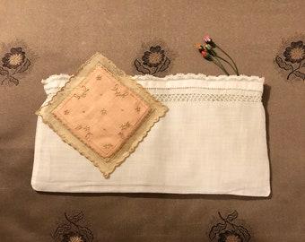 Vintage Linen Sachet Covers Set of 2
