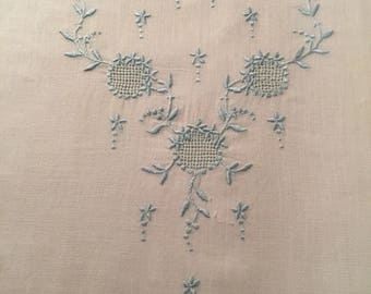 Vintage Hand Embroidered Panel for a Bodice