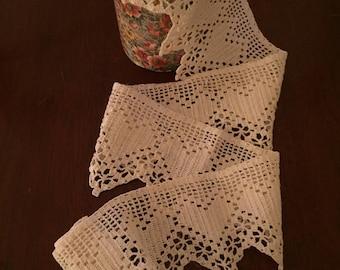 Cotton Crochet Lace with Heart Motif