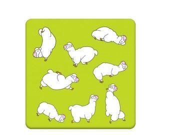 Yoga,Alpaca Coaster, Yoga Gifts,Alpaca,Llama,Kawaii,Yoga,Alpaca Gifts,Llama Gifts,Alpaca Lover Gift,Alpaca Gifts UK, Coffee Coaster