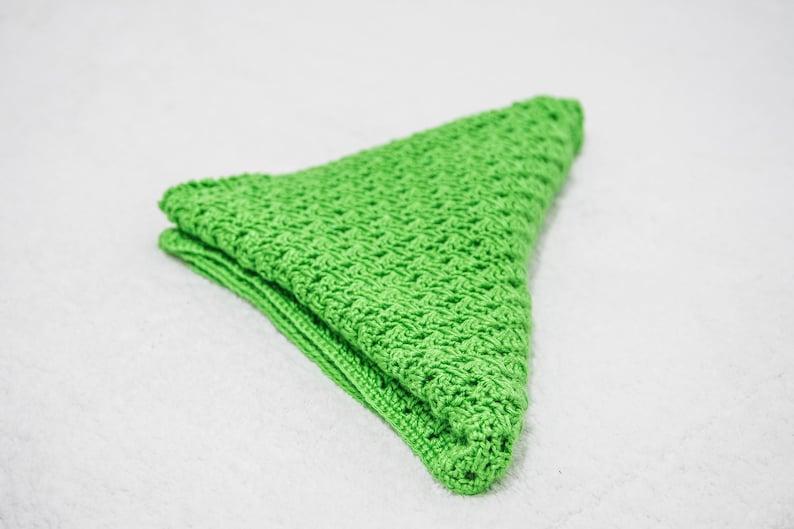 Bright Green Crocheted Baby Blanket Silky Soft