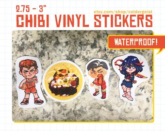 Chibi Vinyl Stickers Durable Decals - Free Shipping