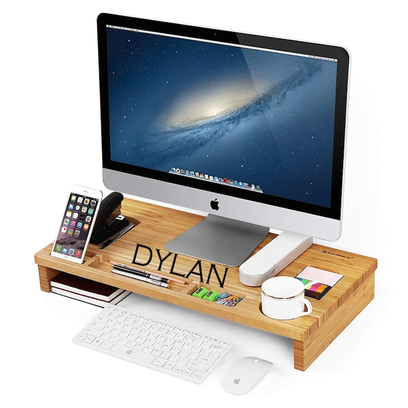 Personalized Storage Desk Personal Laptop Stand Custom Cell image 0