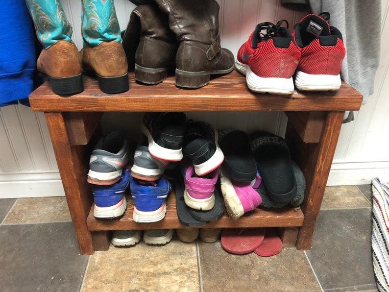 e09db04a71b9c Personalized Custom Shoe Rack, Entryway Organizer, Shoe Rack, Shoe  Organizer, Entryway Bench, Entryway furniture, Towel Rack