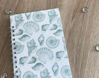 A5 lined Sea Shell Notebook