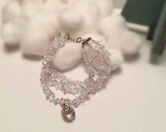 Trio Strand Crystal Bracelet