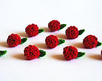 Gehäkelt Blume Rose Weiss Etsy