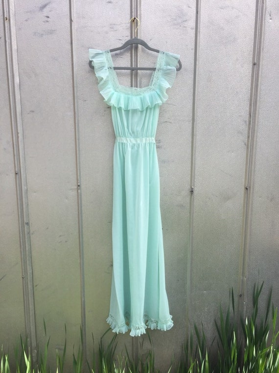 1940's Mint Julep Slip Dress size Xs/s