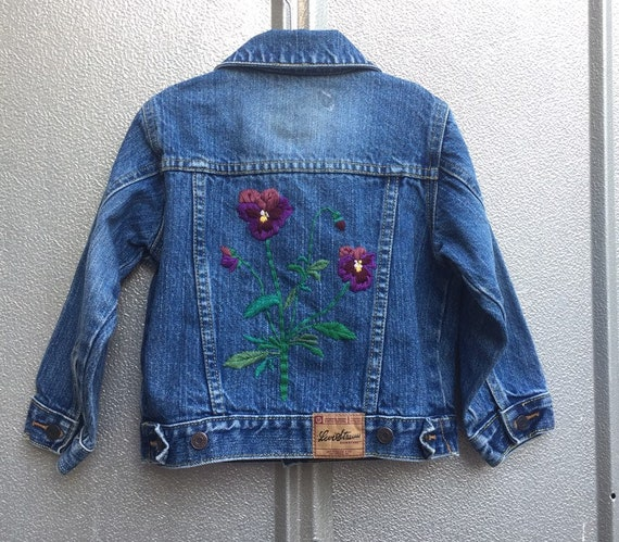 Girls Hand Embroidered Levis Jacket 3T