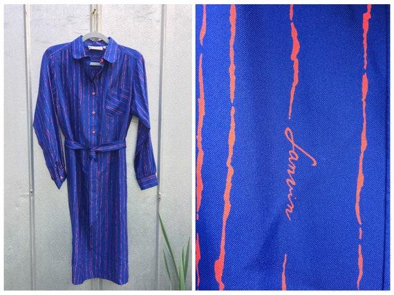 Vintage Lanvin Signature Shirt Dress