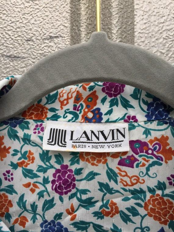 Vintage 70s Lanvin Floral Shirt Dress - image 2
