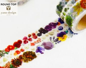 Shell /& Colorful Flower Washi Tape Yano Design Round Top YD-MK-108