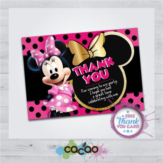 Minnie Mouse Invitation Card Minnie Mouse Invite Etsy