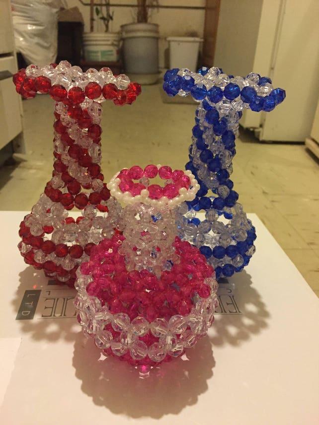 Beaded Flower Vase Etsy