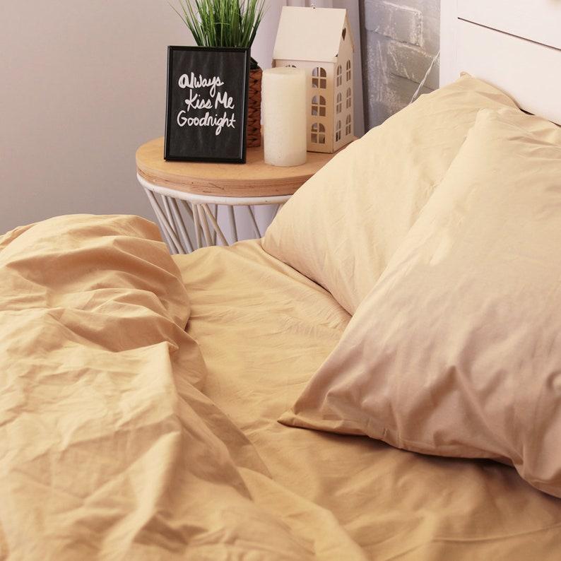 Handmade Pillow Case Organic Pillow Case Slip Cover Natural Custom Pillow Sham European US Sizes 100/% Cotton Pillowcase in Beige