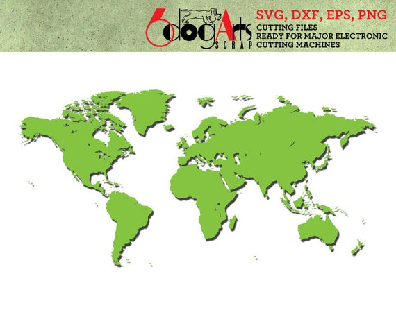 World map digital cut files svg dxf eps png silhouette scal cricut world map digital cut files svg dxf eps png silhouette scal cricut printable vector download for diy paper vinyl die cutting jb 140 from 6dogarts on etsy gumiabroncs Image collections