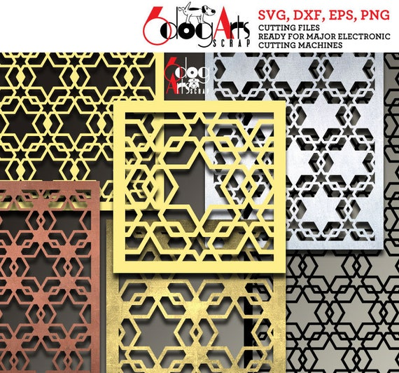 arabesque pattern panel templates digital stencils cut svg dxf etsy