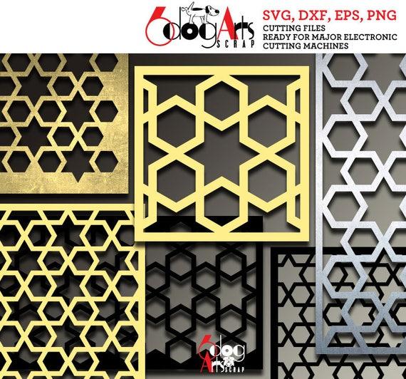 arabesque pattern panel templates digital stencils cut svg dxf etsy