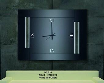 Spiegel Met Klok : Aangepaste spiegel klok met logo gepersonaliseerde etsy